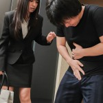 Businesswoman Kotomi Asakura Sucks Cock And Eats Cum In An Elevator