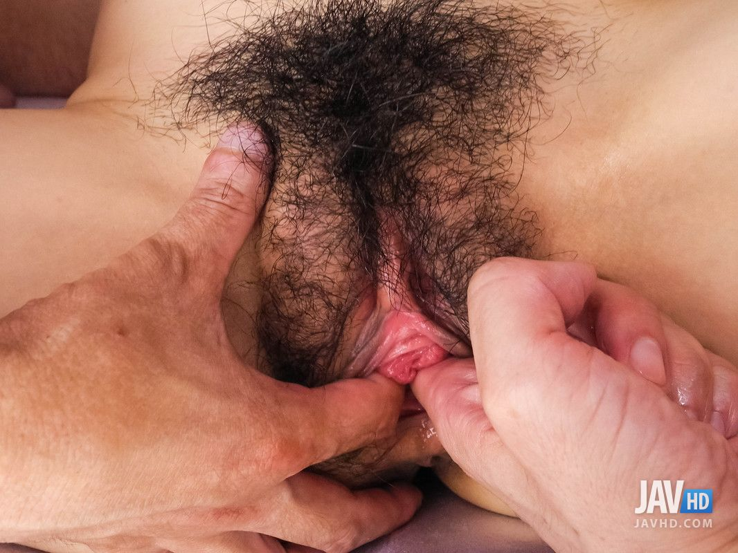 Japanese Porn Star Pics — Hairy pussy of Nozomi Hazuki filled with ...