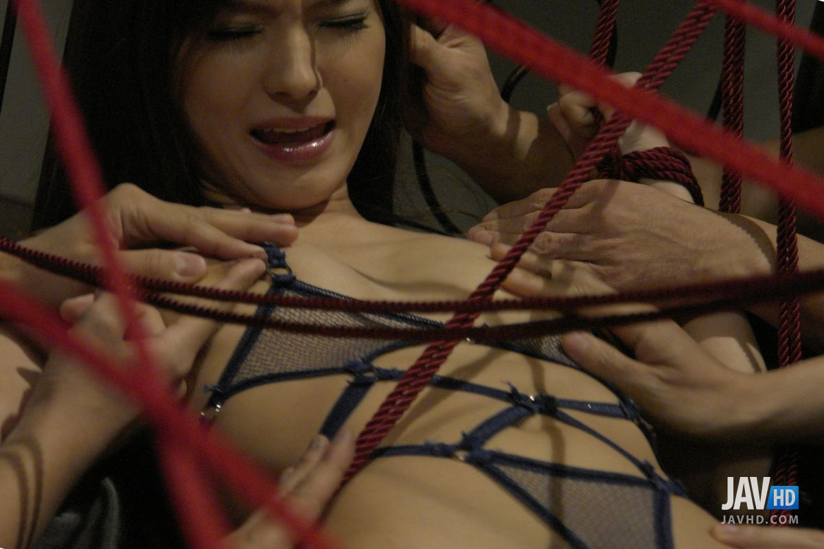 Kinky Rope Bondage And Rough Gangbang For Mei Haruka