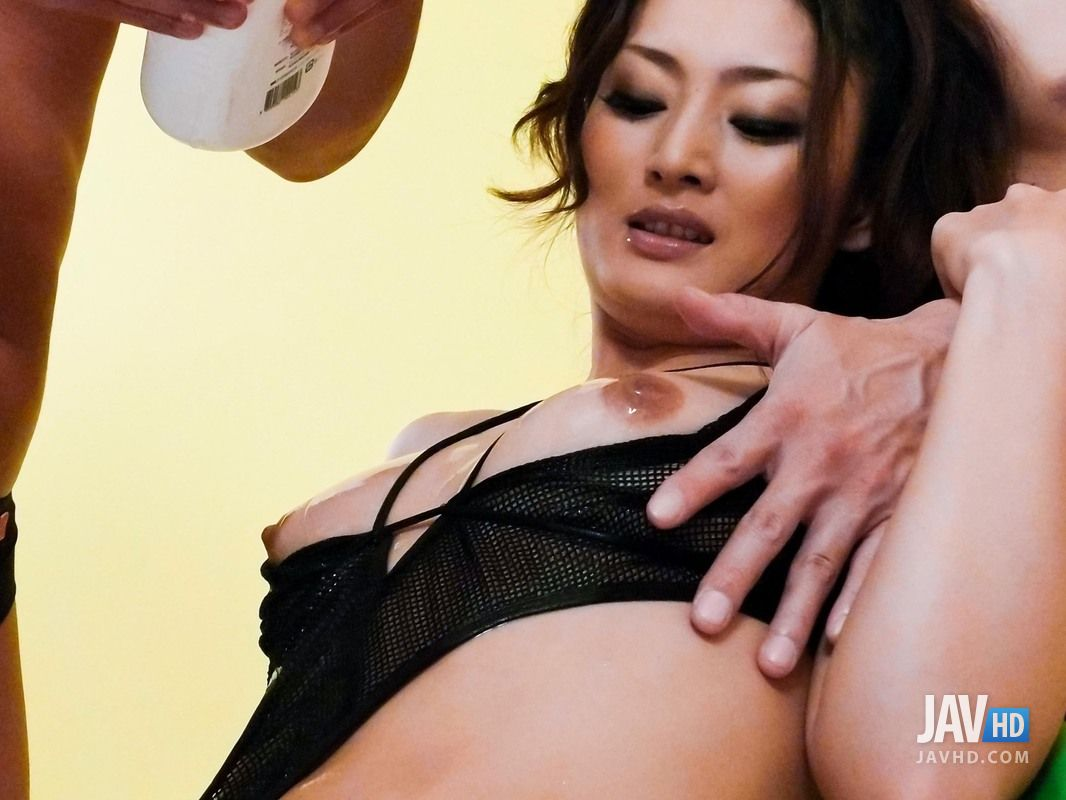 Hina maeda masturbates and has three guys cum for her Part 3